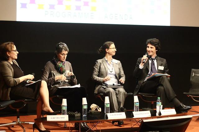 Françoise Benhamou, Eva Karaïtidi (Hestia), Agnieszka Rasinska-Bobr (Institut polonais du livre), Nicolas Georges (MCC) - Forum de Chaillot