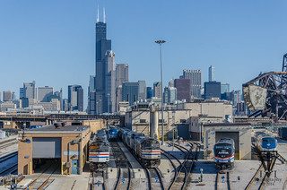 Chicago Amtrak Locomotive Yard