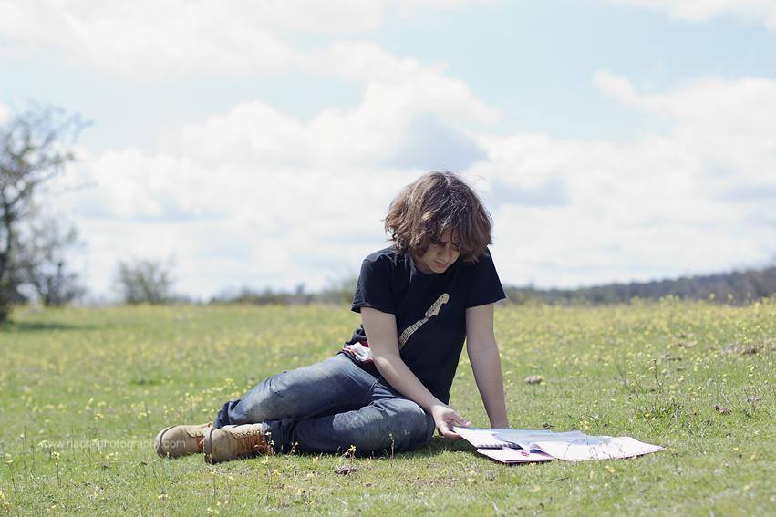 H estudiando campof