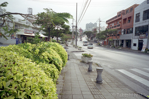 大平バス停から浦添市役所方面へ / from Ohira bus stop to Urasoe city hall