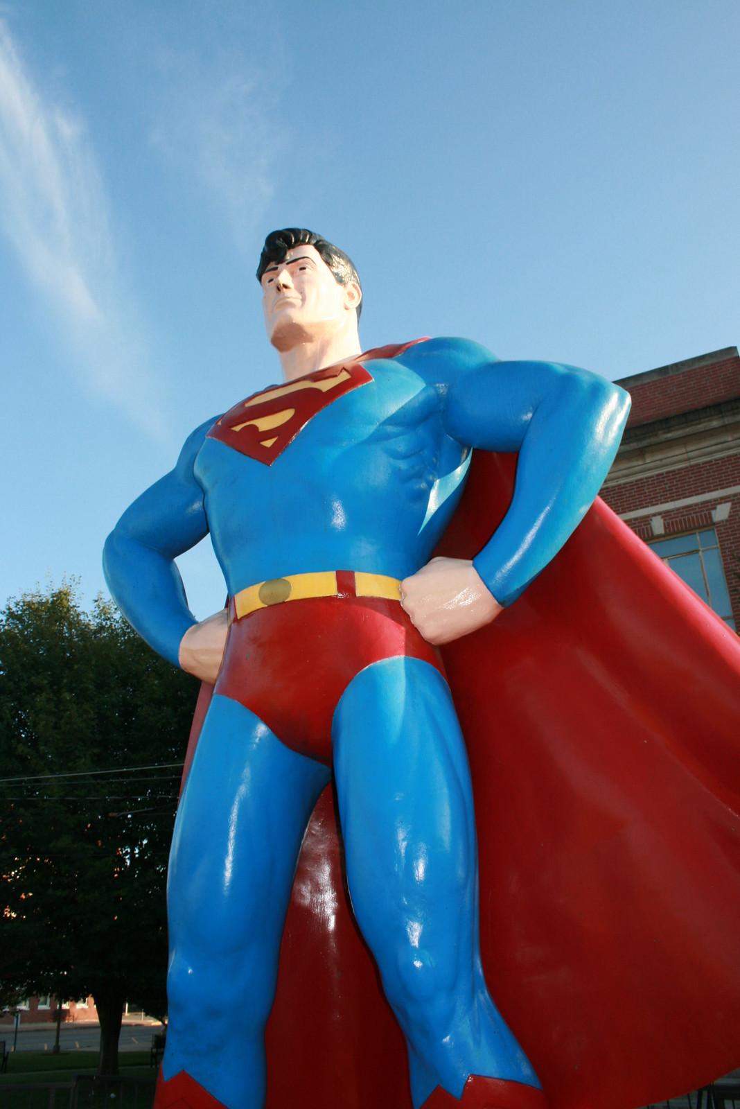 Superman Statue in Metropolis, Illinois