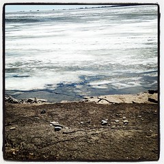 Thin ice. #lakeontario #spring
