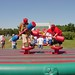 This event pits 2 gladiators against each other. Try to knock the other off the foam pedestal.