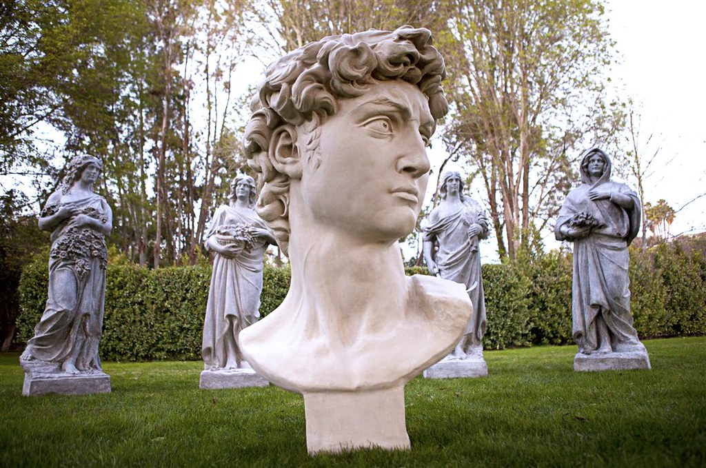 Four Seasons Spring Statues & David Bust