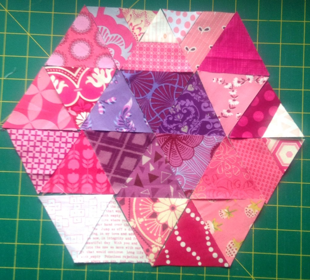 The start of a mini quilt