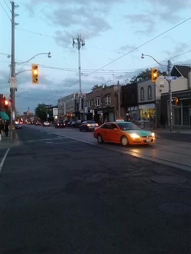 Taxis at Twilight, Dupont and Bathurst