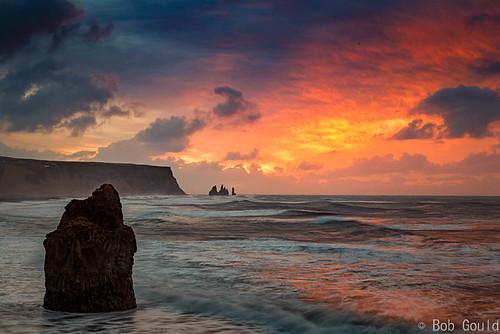 cloud fotobuzz iceland sea sky stacks sunrise waves cliff
