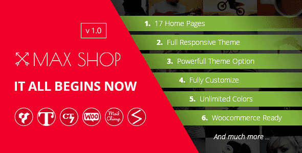 Maxshop WordPress Theme free download