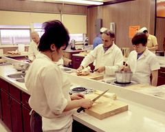 Cooking class, Fort McMurray Vocational School, Fort McMurray, Alberta