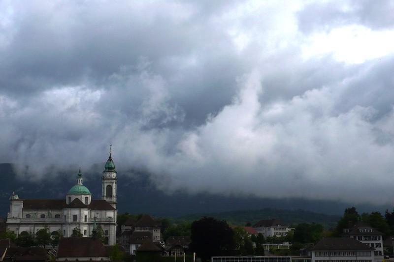 Solothurn in rain