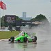 James Hinchcliffe runs in the rain