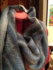 Rainy days handwoven scarf
