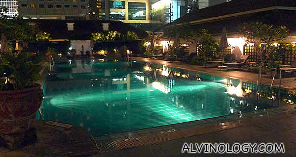 Raffles Hotel rooftop swimming pool