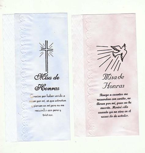 Tarjetas Misa De Honras A Domicilio  Delivery  Lima Peru Y