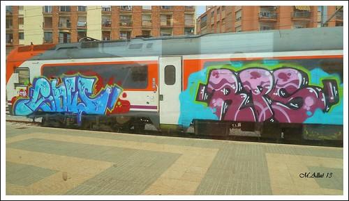 Grafitti en un Tren by Miguel Allué Aguilar