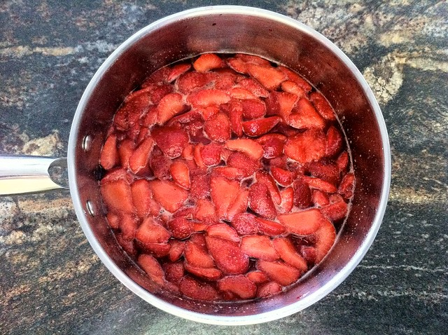Cooked Strawberries and Sugar Syrup