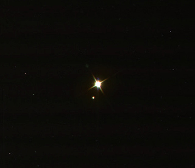 Earth and Moon from Cassini
