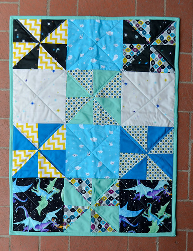 20130710-DSCBaby quilt with pinwheels and dragons