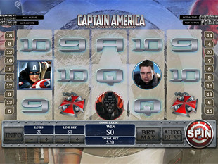 Captain America - The First Avenger slot game online review