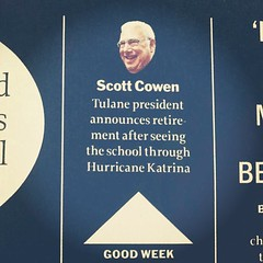 our president Scott Cowen in Time Magazine this week #tulane