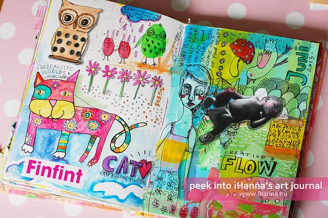 Art Journal Peek: Flow Doodles