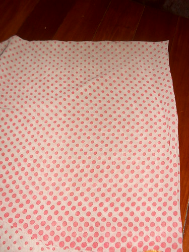 Grey/pink polka dot chiffon