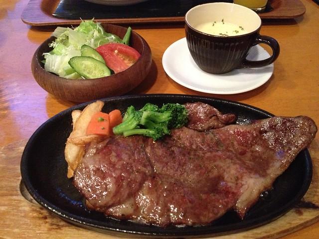 収穫祭 飛騨牛ステーキ