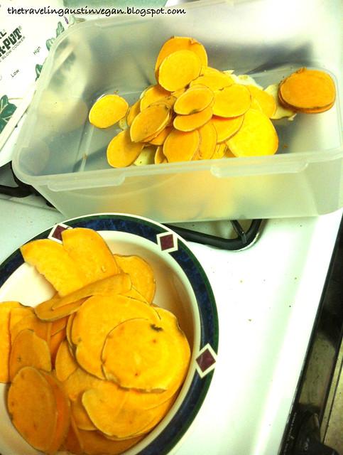 Mandoline-Sliced Sweet Potatoes