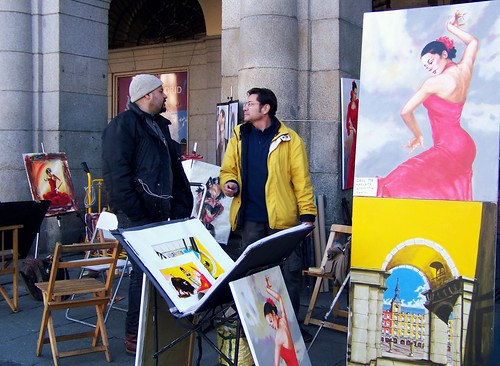 Artists, Plaza Mayor