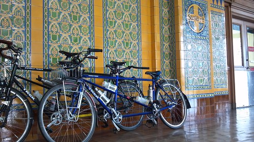 Tandems at San Diego Amtrak Station