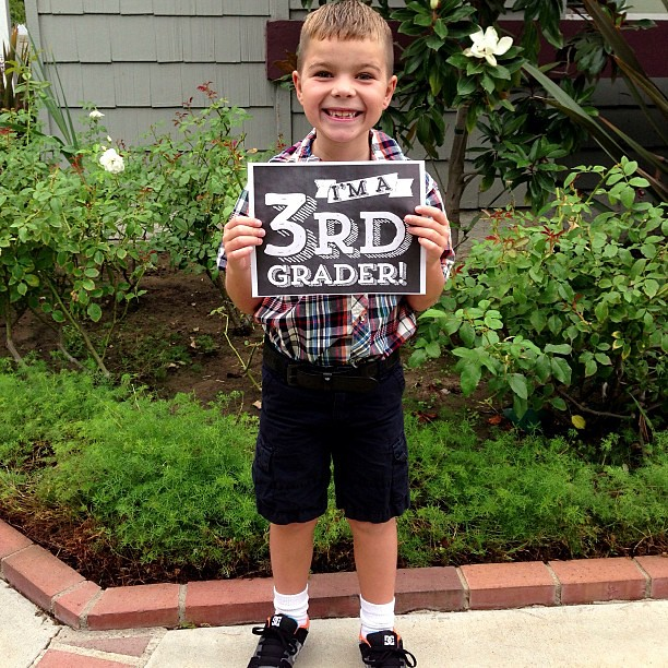 First Day of School. FINALLY! Third grade!