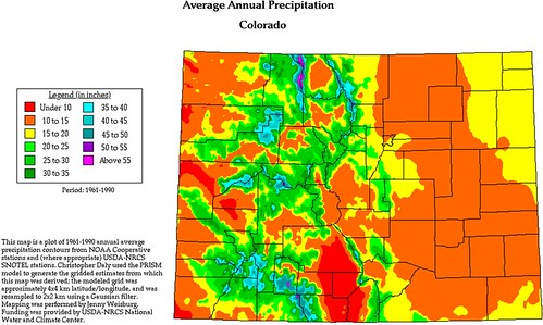 Avg Annual Precipitation, CO