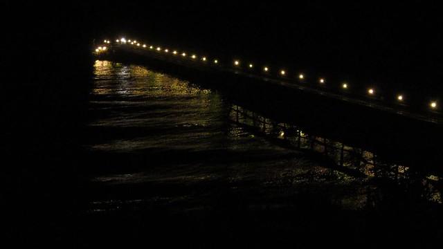 MVI_1678 venoco pier waves from Bacara bluff