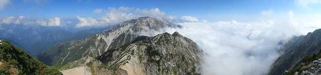 A panorama from Mt. Karamatsu-Dake