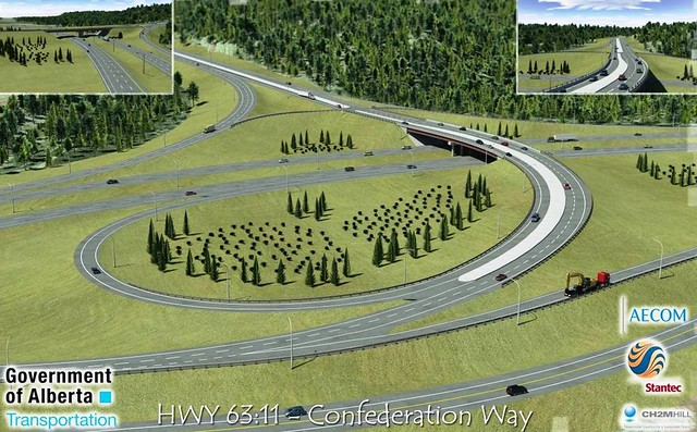 Confederation Way interchange project