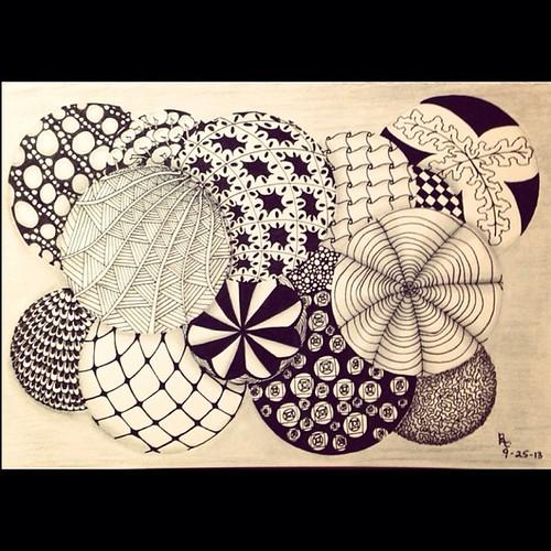 #fmsphotoaday September 26 - Curve #zentangle