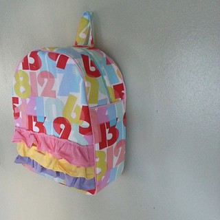 Toddler backpack,  numbers