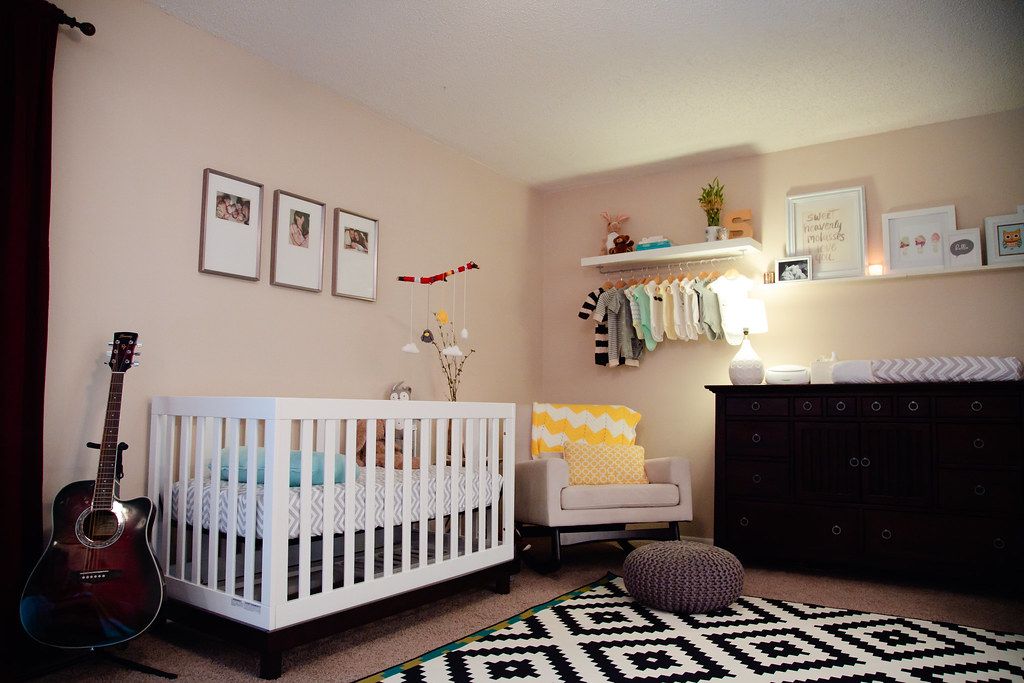 Nursery Nook in Master Bedroom | Home Tour | Fresh Mommy Blog on