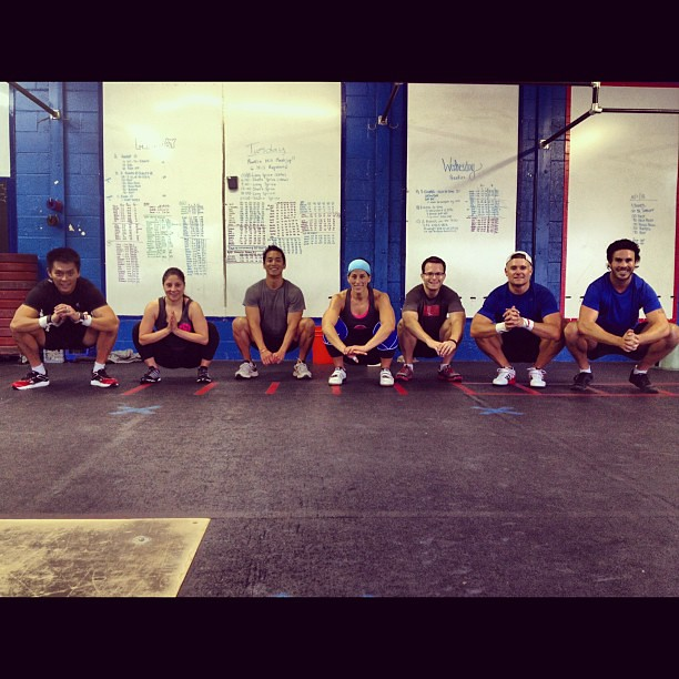 7am class, squattin'. #squats #crossfit #cflaclasswars PC: Shirley Brown