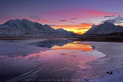 pakistan lake mountains arctic shandur chitral ghizer