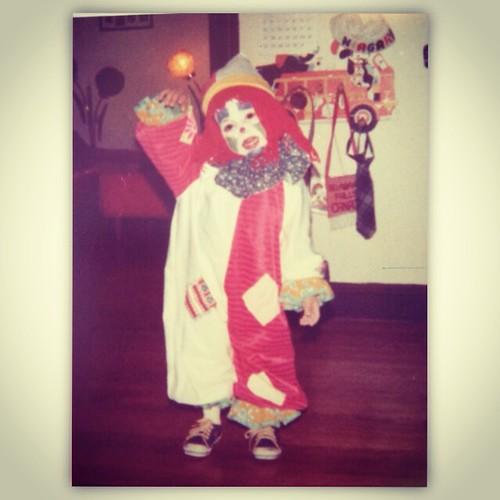 Baby clown me #31dayshalloween