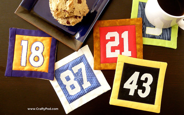 The Crafty Football Blog Hop: How to Make Fantasy Football Team Coasters