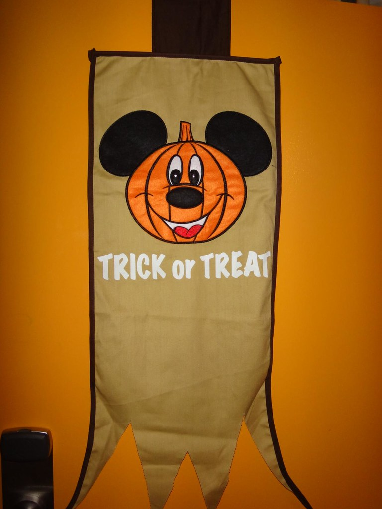 Disney Mickey Mouse Trick or Treat Halloween banner