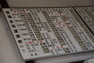 旧大社線 運賃表