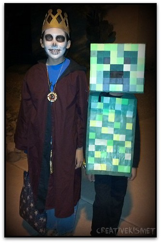 Skeleton King and Creeper
