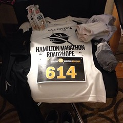 Got my gear together. #hamiltonmarathon