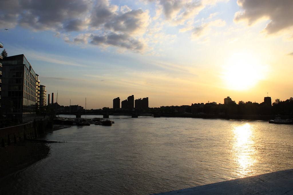 London sunset from the bridge