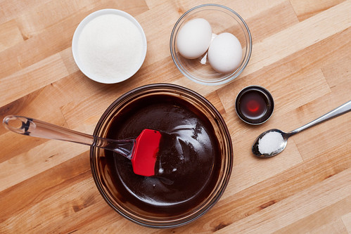 Ingredients for Salted Caramel Brownie Batter