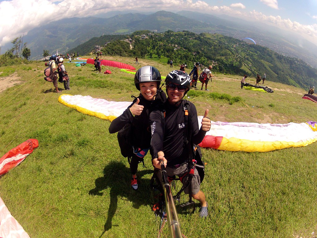 travel * paragliding over Phokara