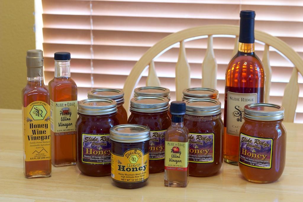 Slide Ridge Honey, Honey Wine Vinegar, CaCysir Honey Mead